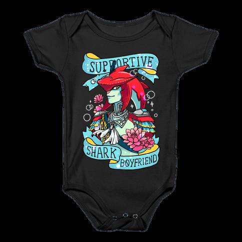 Prince Sidon: Supportive Shark Boyfriend Baby Onesy