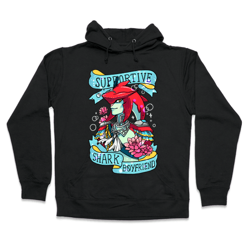 Prince Sidon: Supportive Shark Boyfriend Hooded Sweatshirt