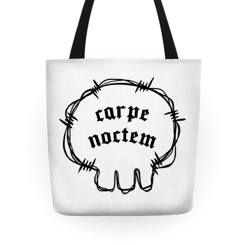 Carpe Noctem (white)  Tote