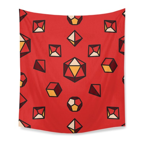 DnD Dice Set Pattern Tapestry