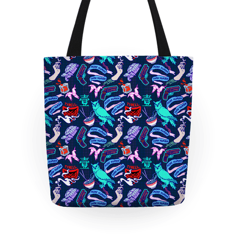 Do Androids Dream Sci Fi Pattern Tote