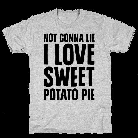 Not Gonna Lie I Love Sweet Potato Pie Mens T-Shirt