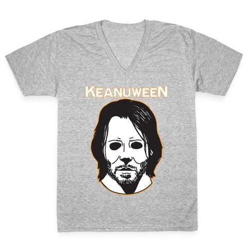 Keanuween - Keanu Halloween V-Neck Tee Shirt