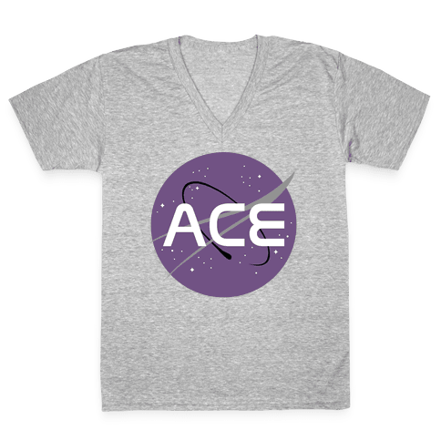 Ace Nasa  V-Neck Tee Shirt