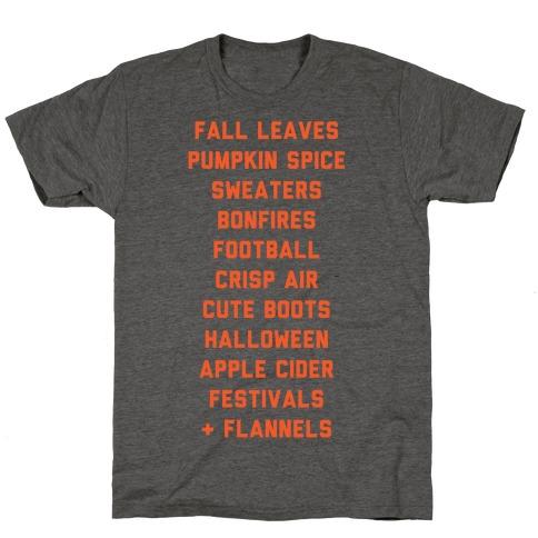 Fall Bucket List T-Shirt