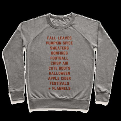 Fall Bucket List Pullover