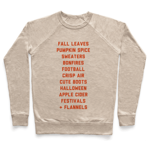 Fall Bucket List Pullover