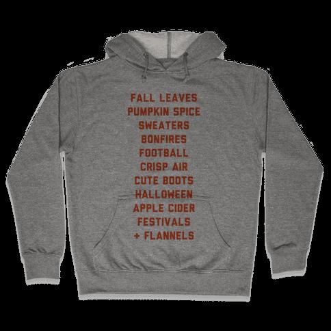 Fall Bucket List Hooded Sweatshirt