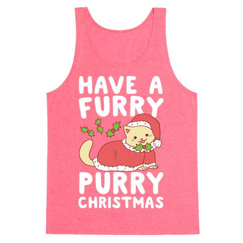 Have a Furry, Purry Christmas  Tank Top