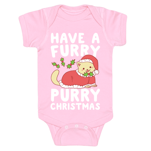 Have a Furry, Purry Christmas  Baby Onesy