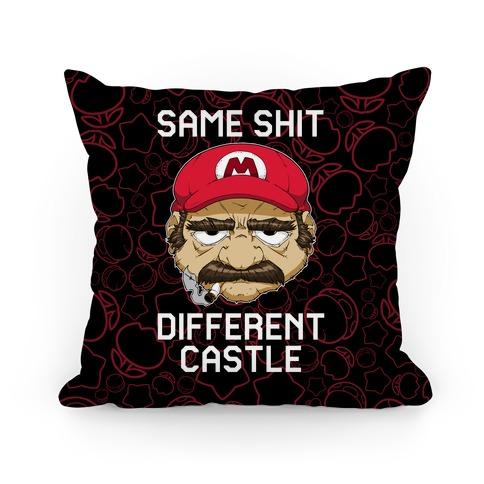 Same Shit Different Castle Pillow
