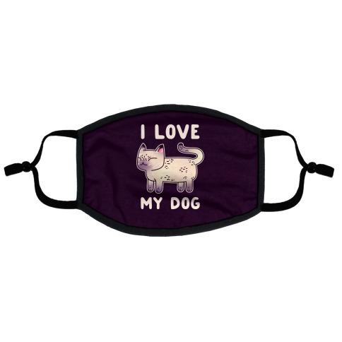 I Love My Dog (Cat) Flat Face Mask