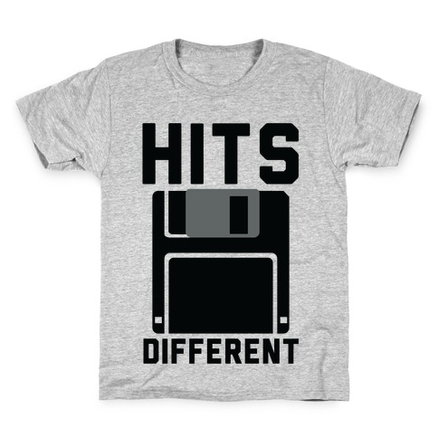 Hits Different Floppy Disk Kids T-Shirt