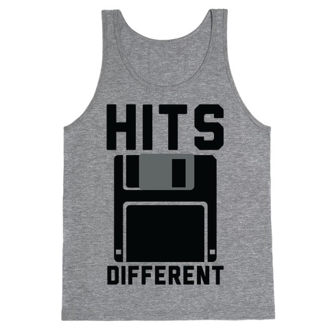 Hits Different Floppy Disk Tank Top