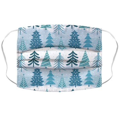 Christmas Tree Pattern Accordion Face Mask