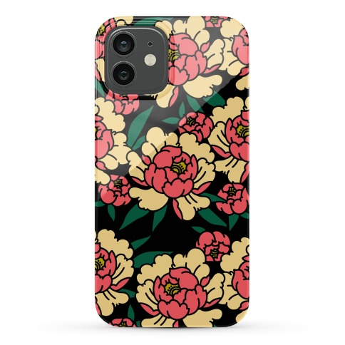 Traditional Tattoo Peony Red Phone Case