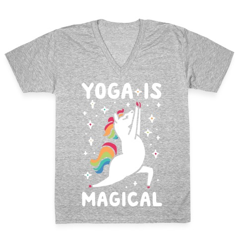 Yoga Is Magical V-Neck Tee Shirt