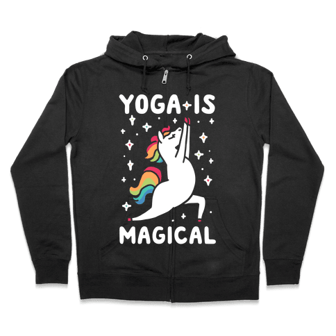 Yoga Is Magical Zip Hoodie