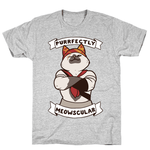 Purrfectly Meowscular Mens/Unisex T-Shirt