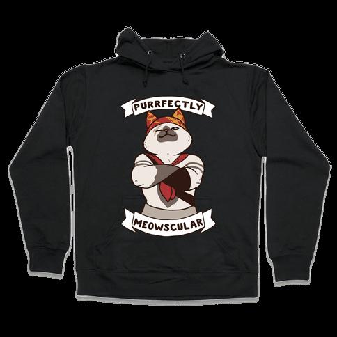 Purrfectly Meowscular  Hooded Sweatshirt