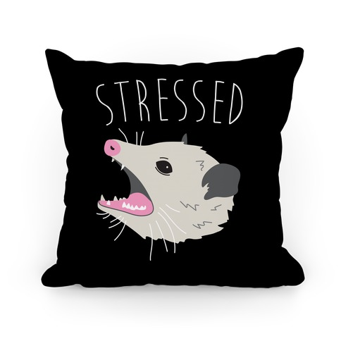 Stressed Opossum Pillow