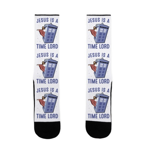 Jesus Is A Time Lord Sock