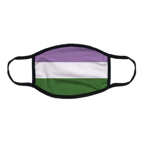 Gender Queer Pride Flag Flat Face Mask