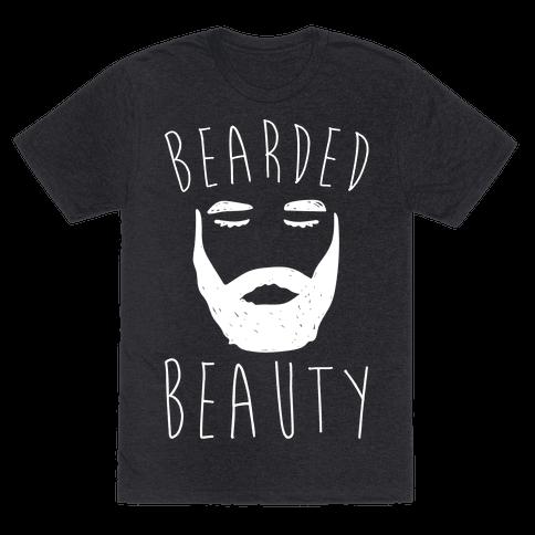Bearded Beauty White Print