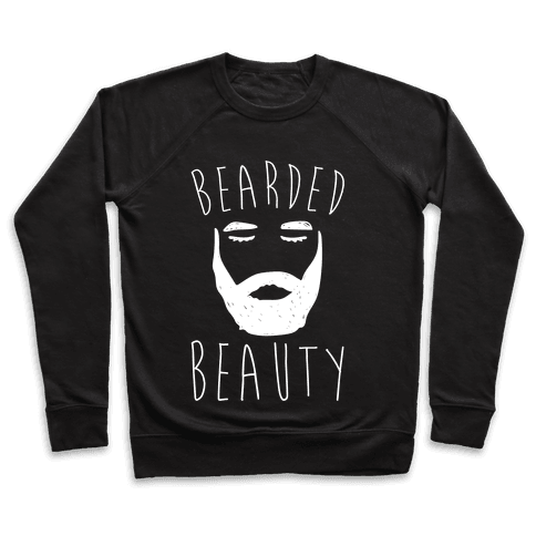 Bearded Beauty White Print Pullover