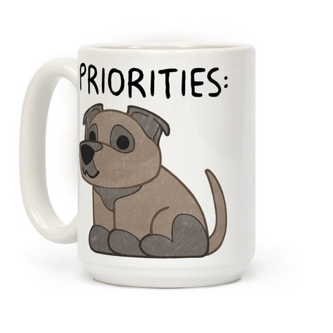 Pit Bull Priorities Coffee Mug
