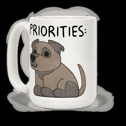 Pit Bull Priorities Coffee Mug