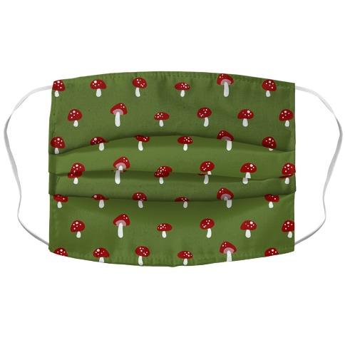 Dainty Mushroom Pattern Green Accordion Face Mask