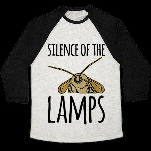 Silence of The Lamps Moth Parody Baseball Tee
