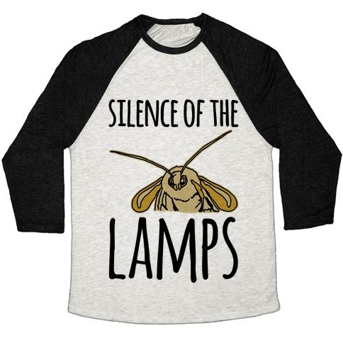 Silence of The Lamps Moth Parody Baseball Tee