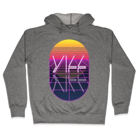 Synthwave Yiff Hooded Sweatshirt