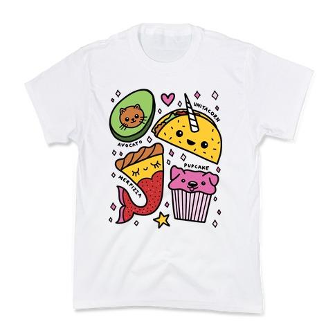 Cute Food Mashups Kids T-Shirt