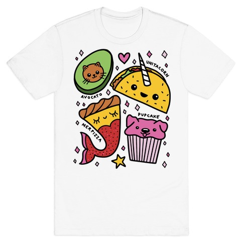 Cute Food Mashups T-Shirt