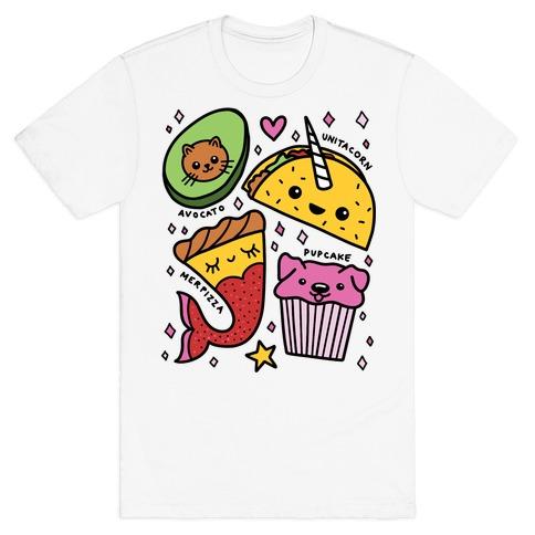 Cute Food Mashups T-Shirt