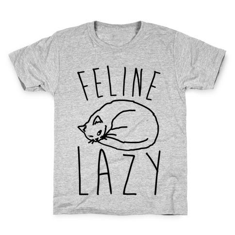 Feline Lazy Kids T-Shirt