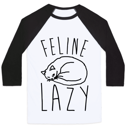 Feline Lazy Baseball Tee