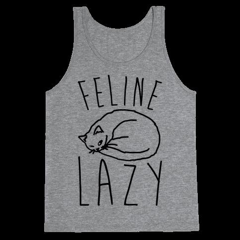 Feline Lazy Tank Top