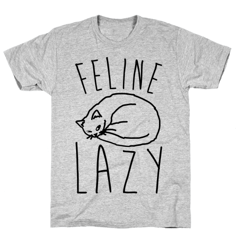 Feline Lazy Mens T-Shirt