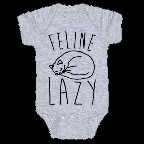 Feline Lazy Baby Onesy
