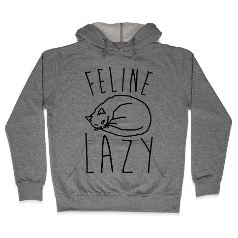 Feline Lazy Hooded Sweatshirt
