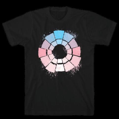 Trans Pride Color Wheel Mens/Unisex T-Shirt