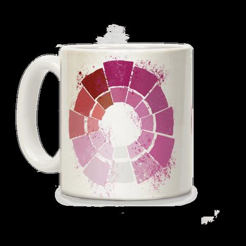 Lesbian Pride Color Wheel Coffee Mug