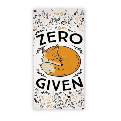 Zero Fox Given Beach Towel Beach Towel