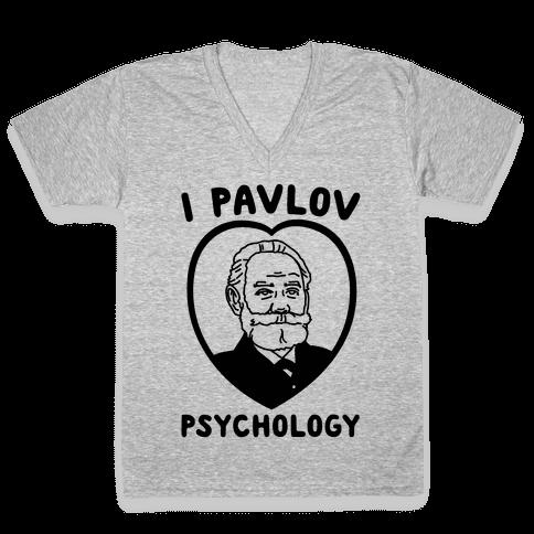 I Pavlov Psychology  V-Neck Tee Shirt