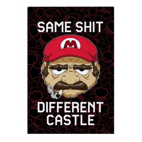Same Shit Different Castle Garden Flag