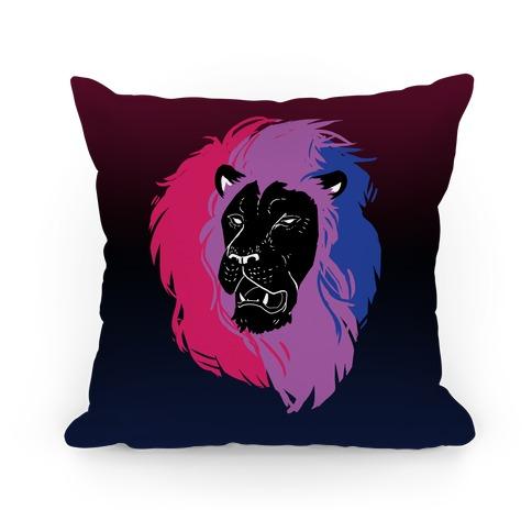 Bisexual Lion Pride Pillow